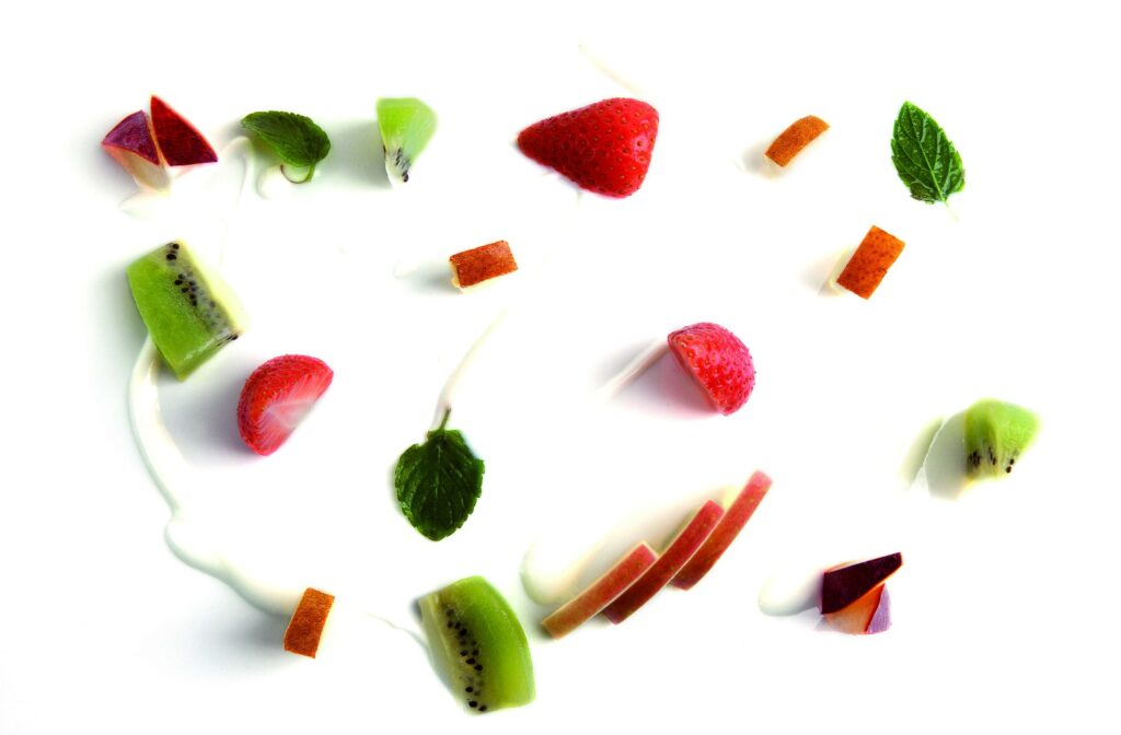 Macedonia di frutta sciroppata
